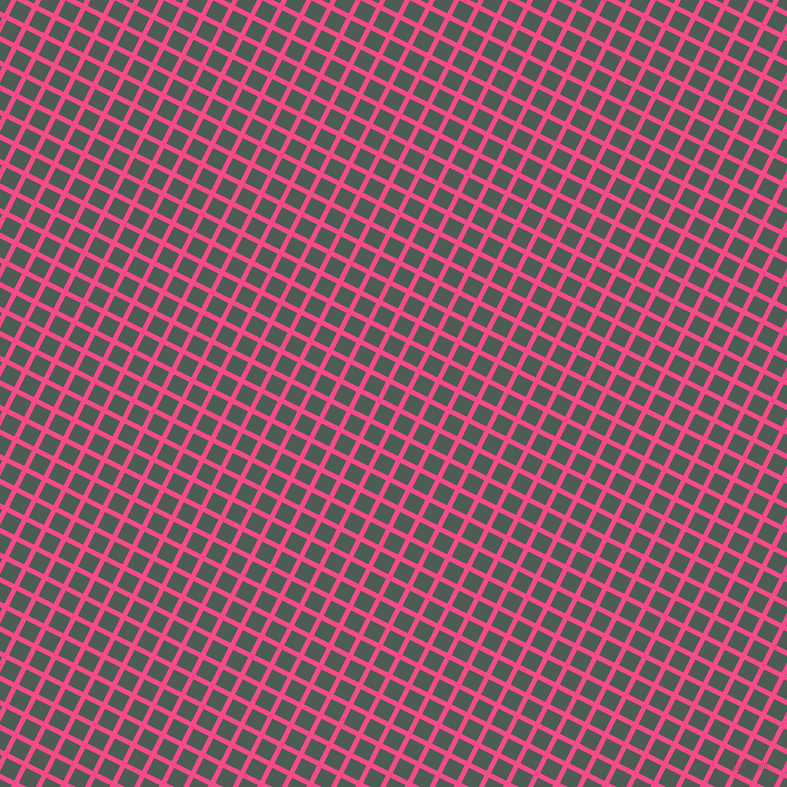 63/153 degree angle diagonal checkered chequered lines, 5 pixel lines width, 17 pixel square size, French Rose and Feldgrau plaid checkered seamless tileable