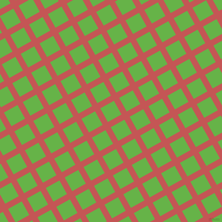 29/119 degree angle diagonal checkered chequered lines, 20 pixel line width, 52 pixel square size, Fuzzy Wuzzy Brown and Apple plaid checkered seamless tileable
