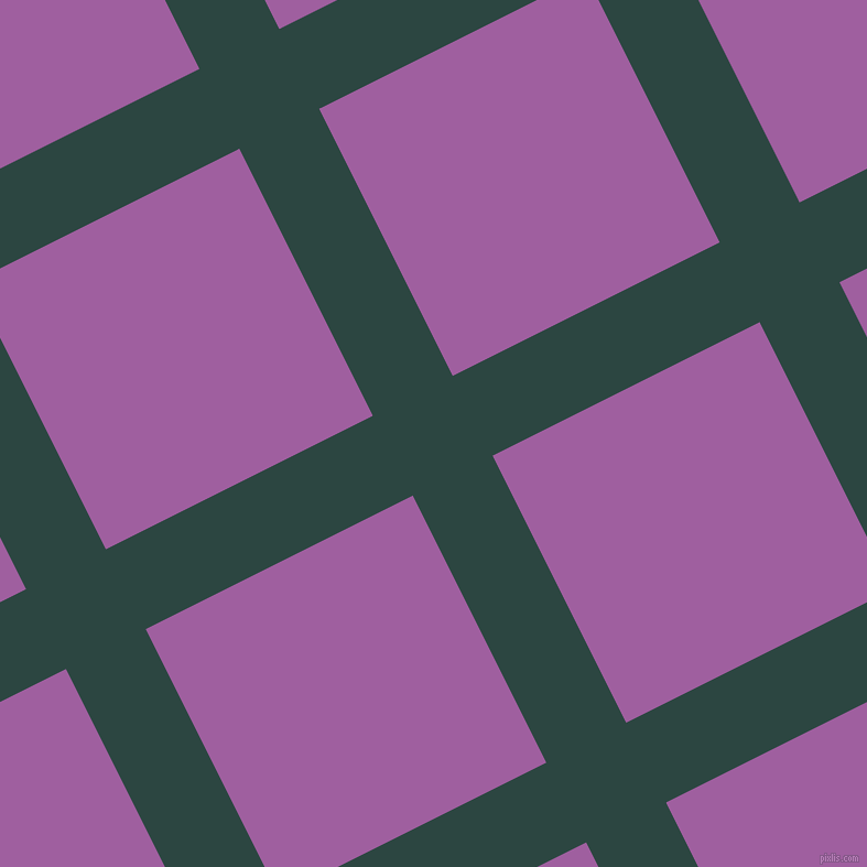 27/117 degree angle diagonal checkered chequered lines, 81 pixel lines width, 271 pixel square size, Gable Green and Violet Blue plaid checkered seamless tileable