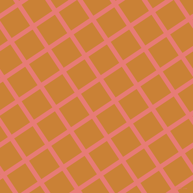 34/124 degree angle diagonal checkered chequered lines, 15 pixel line width, 72 pixel square size, Geraldine and Golden Bell plaid checkered seamless tileable