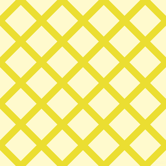 45/135 degree angle diagonal checkered chequered lines, 24 pixel line width, 78 pixel square size, Golden Fizz and Lemon Chiffon plaid checkered seamless tileable