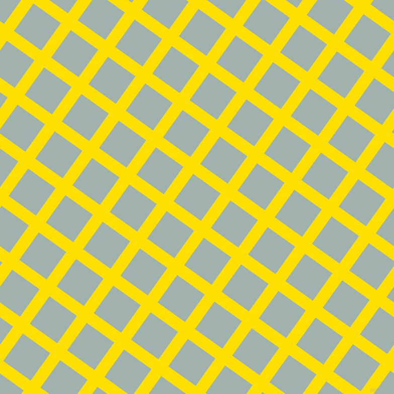 54/144 degree angle diagonal checkered chequered lines, 24 pixel line width, 67 pixel square size, Golden Yellow and Conch plaid checkered seamless tileable