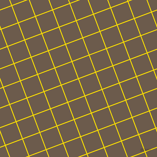 21/111 degree angle diagonal checkered chequered lines, 3 pixel lines width, 59 pixel square size, Golden Yellow and Domino plaid checkered seamless tileable