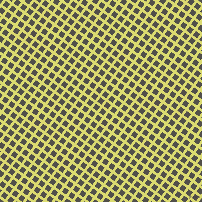 54/144 degree angle diagonal checkered chequered lines, 9 pixel lines width, 18 pixel square size, Goldenrod and Dune plaid checkered seamless tileable