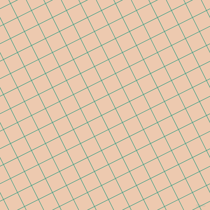 27/117 degree angle diagonal checkered chequered lines, 2 pixel line width, 58 pixel square size, Gossamer and Desert Sand plaid checkered seamless tileable