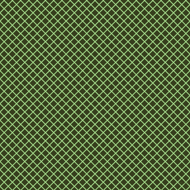 45/135 degree angle diagonal checkered chequered lines, 3 pixel lines width, 16 pixel square size, Gossip and Turtle Green plaid checkered seamless tileable