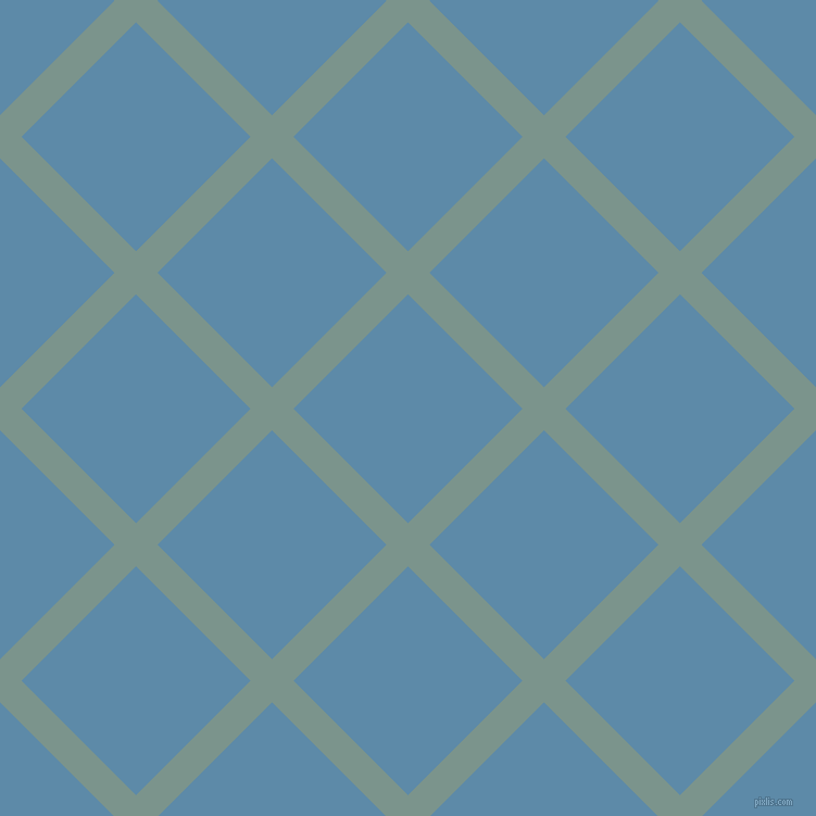 45/135 degree angle diagonal checkered chequered lines, 28 pixel lines width, 149 pixel square size, Granny Smith and Air Force Blue plaid checkered seamless tileable