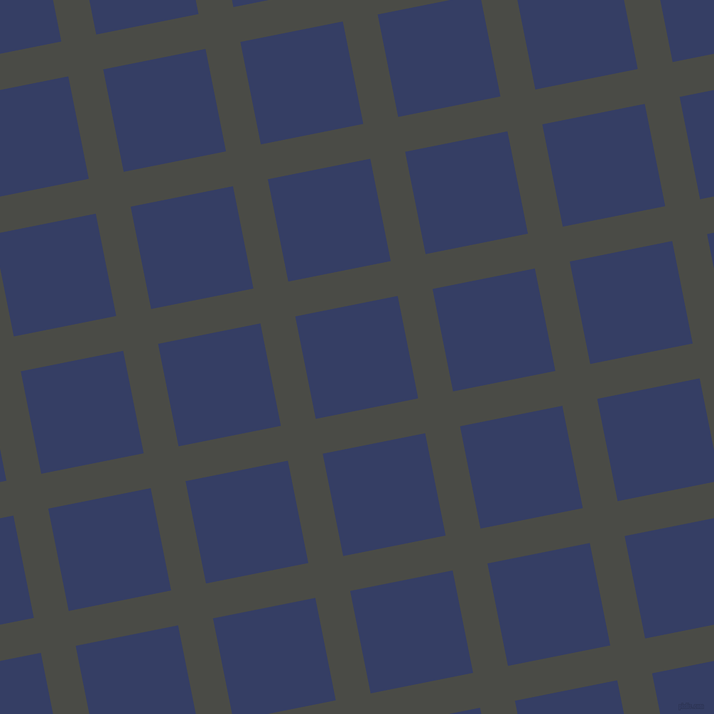 11/101 degree angle diagonal checkered chequered lines, 50 pixel line width, 147 pixel square size, Gravel and Bay Of Many plaid checkered seamless tileable