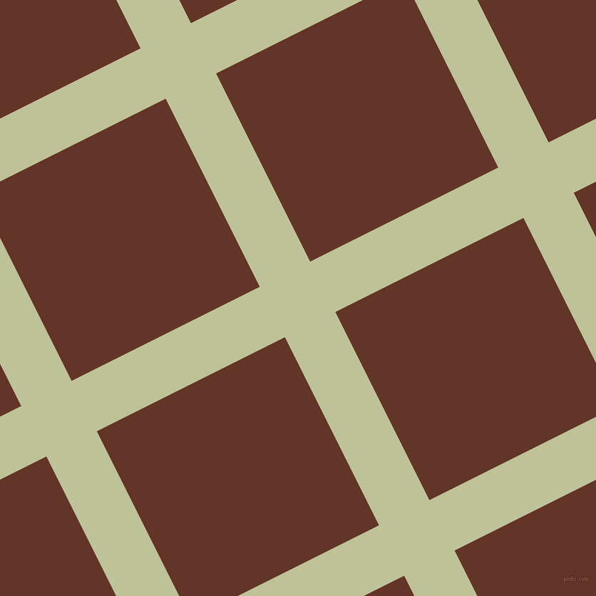27/117 degree angle diagonal checkered chequered lines, 79 pixel lines width, 295 pixel square size, Green Mist and Hairy Heath plaid checkered seamless tileable