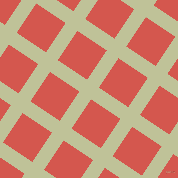 56/146 degree angle diagonal checkered chequered lines, 54 pixel line width, 135 pixel square size, Green Mist and Valencia plaid checkered seamless tileable