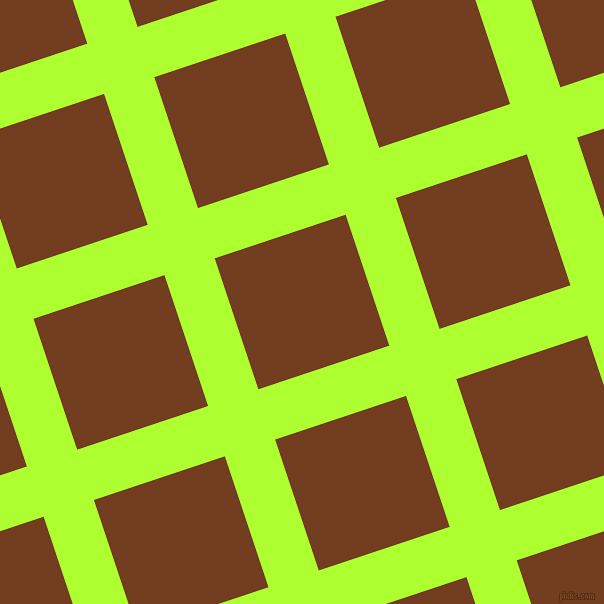 18/108 degree angle diagonal checkered chequered lines, 53 pixel lines width, 138 pixel square size, Green Yellow and Peru Tan plaid checkered seamless tileable