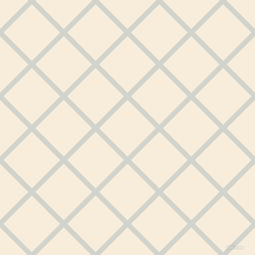45/135 degree angle diagonal checkered chequered lines, 10 pixel line width, 80 pixel square size, Grey Nurse and Island Spice plaid checkered seamless tileable