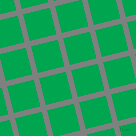 14/104 degree angle diagonal checkered chequered lines, 18 pixel line width, 90 pixel square size, Grey and Pigment Green plaid checkered seamless tileable