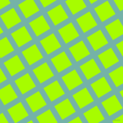 31/121 degree angle diagonal checkered chequered lines, 23 pixel line width, 65 pixel square size, Gulf Stream and Spring Bud plaid checkered seamless tileable