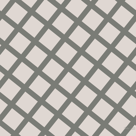 51/141 degree angle diagonal checkered chequered lines, 17 pixel line width, 52 pixel square size, Gunsmoke and Bon Jour plaid checkered seamless tileable
