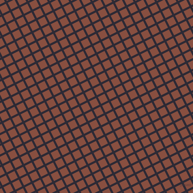 27/117 degree angle diagonal checkered chequered lines, 7 pixel lines width, 25 pixel square size, Haiti and Mule Fawn plaid checkered seamless tileable