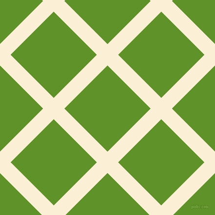 45/135 degree angle diagonal checkered chequered lines, 31 pixel lines width, 125 pixel square size, Half Dutch White and Vida Loca plaid checkered seamless tileable