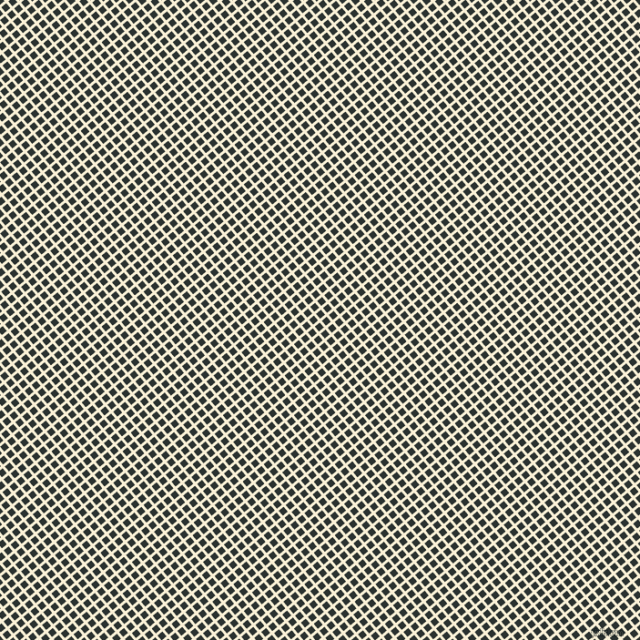 40/130 degree angle diagonal checkered chequered lines, 3 pixel lines width, 7 pixel square size, Half Dutch White and Woodsmoke plaid checkered seamless tileable