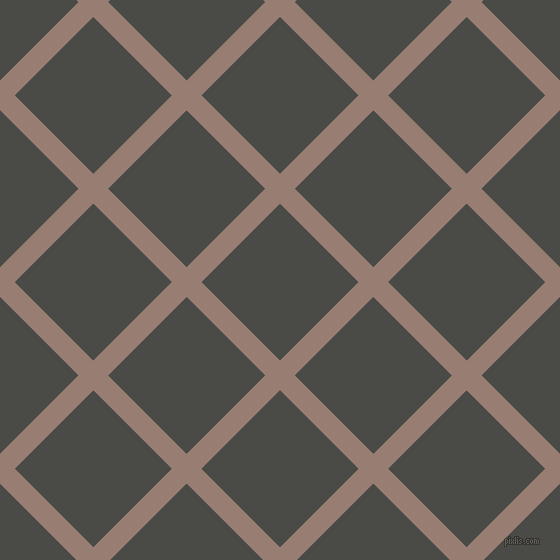 45/135 degree angle diagonal checkered chequered lines, 21 pixel line width, 111 pixel square size, Hemp and Gravel plaid checkered seamless tileable