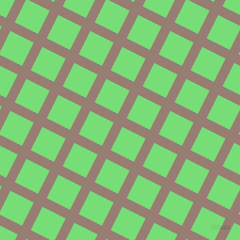 63/153 degree angle diagonal checkered chequered lines, 19 pixel lines width, 51 pixel square size, Hemp and Pastel Green plaid checkered seamless tileable