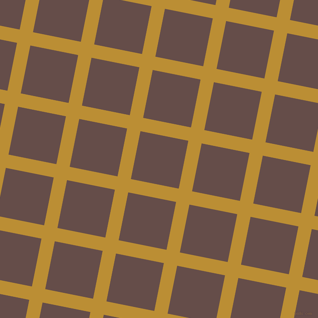 79/169 degree angle diagonal checkered chequered lines, 27 pixel line width, 97 pixel square size, Hokey Pokey and Congo Brown plaid checkered seamless tileable