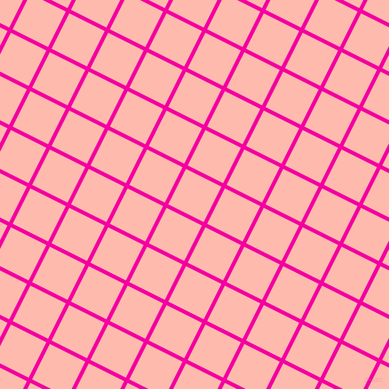 63/153 degree angle diagonal checkered chequered lines, 8 pixel line width, 81 pixel square size, Hollywood Cerise and Melon plaid checkered seamless tileable