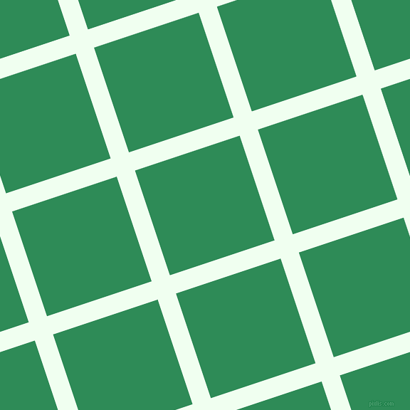 18/108 degree angle diagonal checkered chequered lines, 27 pixel lines width, 155 pixel square size, Honeydew and Sea Green plaid checkered seamless tileable