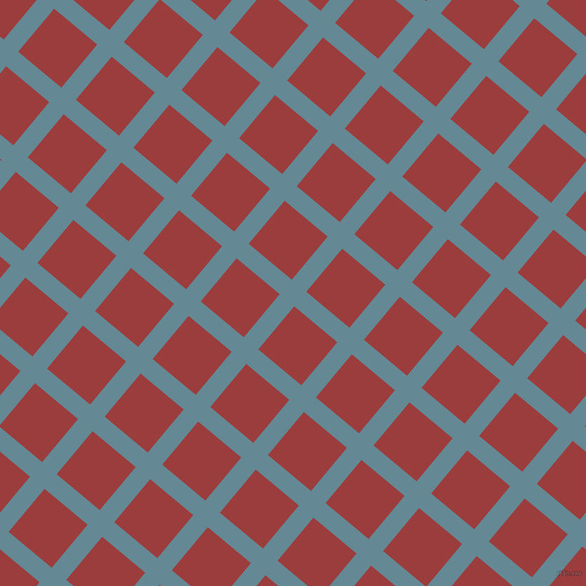 50/140 degree angle diagonal checkered chequered lines, 27 pixel lines width, 80 pixel square size, Horizon and Mexican Red plaid checkered seamless tileable