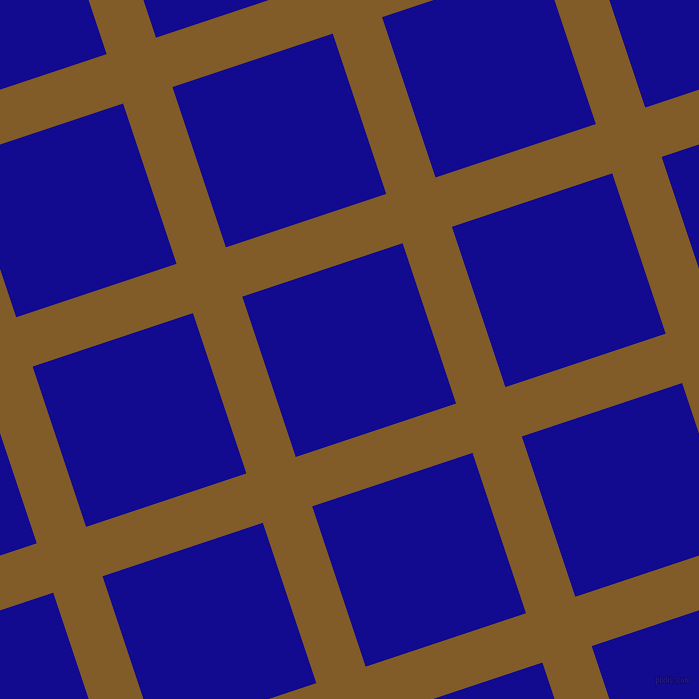 18/108 degree angle diagonal checkered chequered lines, 52 pixel lines width, 169 pixel square size, Hot Curry and Ultramarine plaid checkered seamless tileable