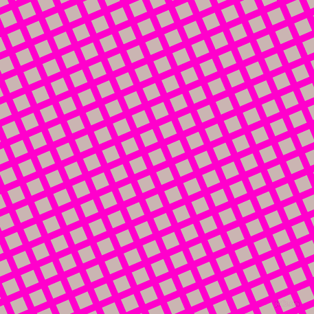 23/113 degree angle diagonal checkered chequered lines, 10 pixel lines width, 20 pixel square size, Hot Magenta and Cold Turkey plaid checkered seamless tileable