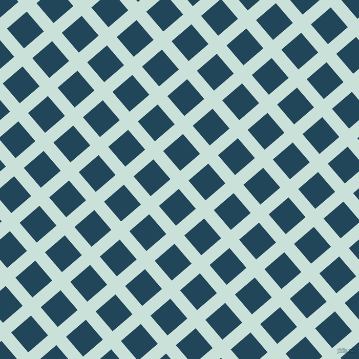 41/131 degree angle diagonal checkered chequered lines, 25 pixel lines width, 51 pixel square size, Iceberg and Astronaut Blue plaid checkered seamless tileable