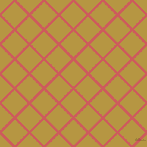 45/135 degree angle diagonal checkered chequered lines, 8 pixel lines width, 61 pixel square size, Indian Red and Roti plaid checkered seamless tileable