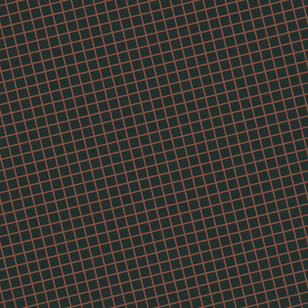 14/104 degree angle diagonal checkered chequered lines, 3 pixel lines width, 19 pixel square size, Ironstone and Racing Green plaid checkered seamless tileable