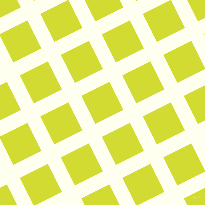 27/117 degree angle diagonal checkered chequered lines, 49 pixel lines width, 106 pixel square size, Ivory and Bitter Lemon plaid checkered seamless tileable