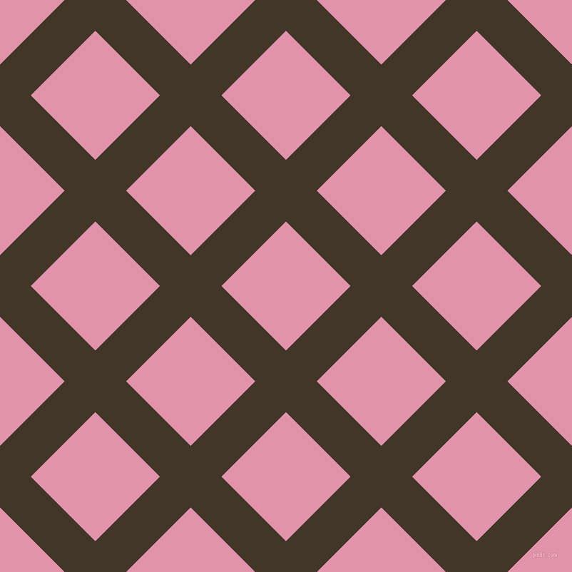 45/135 degree angle diagonal checkered chequered lines, 61 pixel line width, 128 pixel square size, Jacko Bean and Kobi plaid checkered seamless tileable