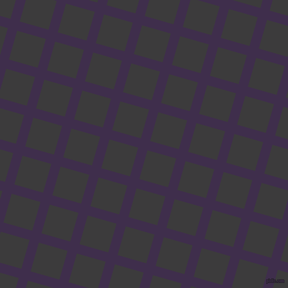 74/164 degree angle diagonal checkered chequered lines, 19 pixel line width, 59 pixel square size, Jagger and Fuscous Grey plaid checkered seamless tileable
