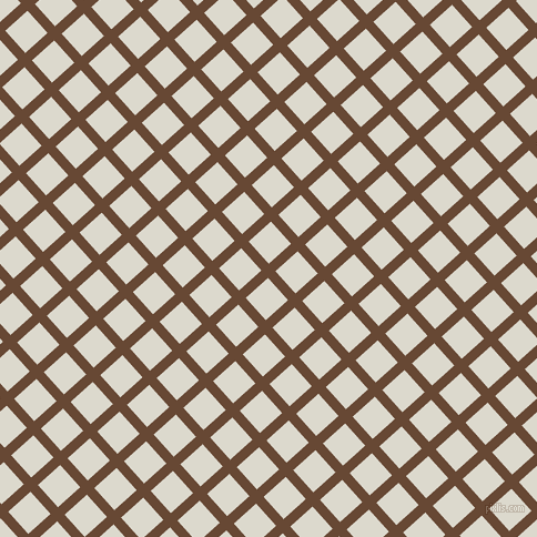 42/132 degree angle diagonal checkered chequered lines, 9 pixel line width, 27 pixel square size, Jambalaya and Milk White plaid checkered seamless tileable