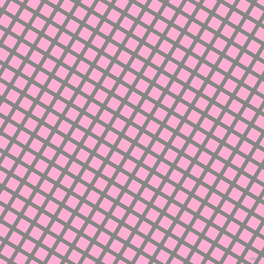 59/149 degree angle diagonal checkered chequered lines, 13 pixel line width, 36 pixel square size, Jumbo and Lavender Pink plaid checkered seamless tileable