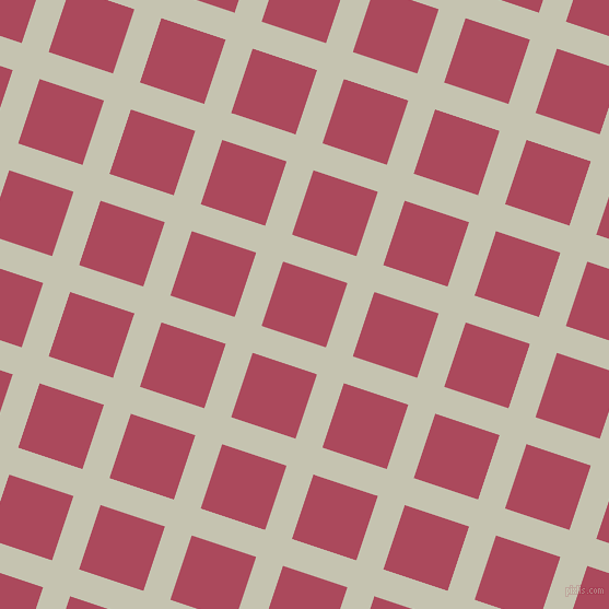 72/162 degree angle diagonal checkered chequered lines, 26 pixel line width, 62 pixel square size, Kangaroo and Hippie Pink plaid checkered seamless tileable
