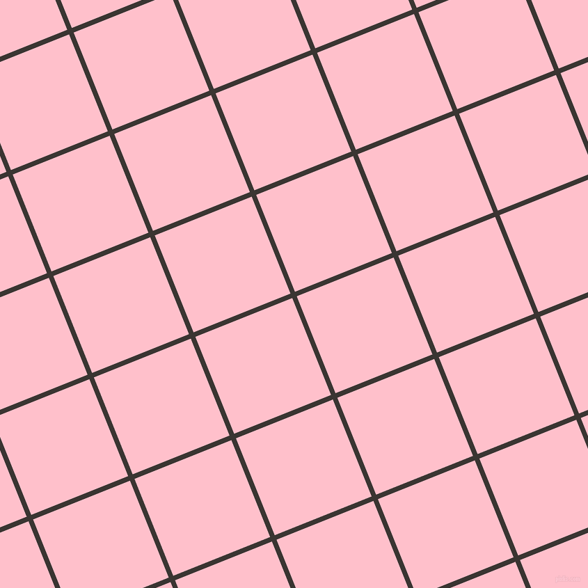 22/112 degree angle diagonal checkered chequered lines, 7 pixel line width, 150 pixel square size, Kilamanjaro and Pink plaid checkered seamless tileable