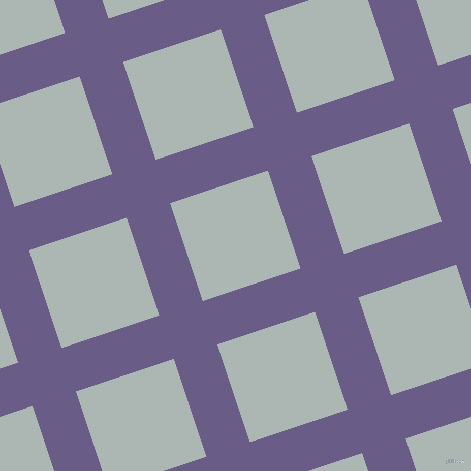 18/108 degree angle diagonal checkered chequered lines, 90 pixel line width, 203 pixel square size, Kimberly and Periglacial Blue plaid checkered seamless tileable