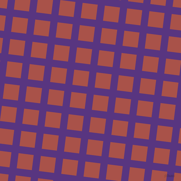 83/173 degree angle diagonal checkered chequered lines, 25 pixel line width, 53 pixel square size, Kingfisher Daisy and Apple Blossom plaid checkered seamless tileable