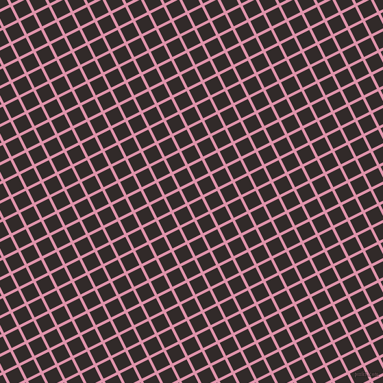 27/117 degree angle diagonal checkered chequered lines, 4 pixel line width, 21 pixel square size, Kobi and Livid Brown plaid checkered seamless tileable
