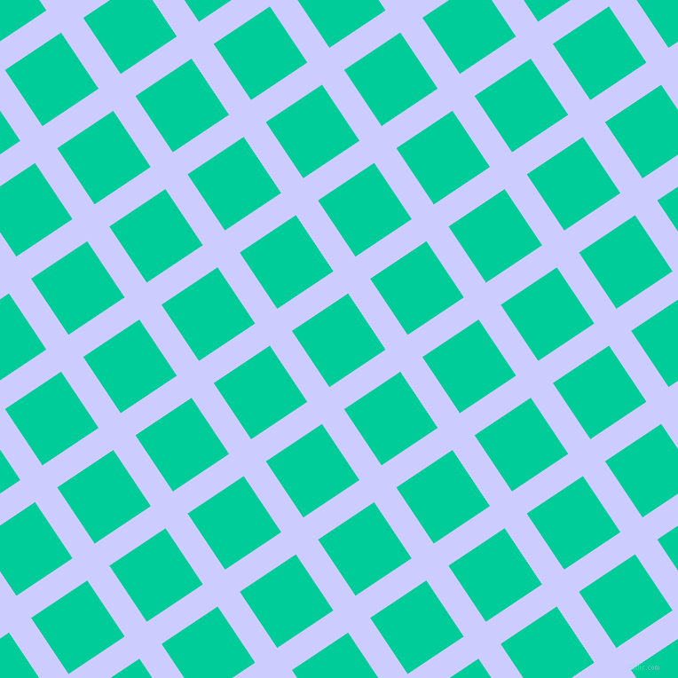 34/124 degree angle diagonal checkered chequered lines, 30 pixel line width, 76 pixel square size, Lavender Blue and Caribbean Green plaid checkered seamless tileable