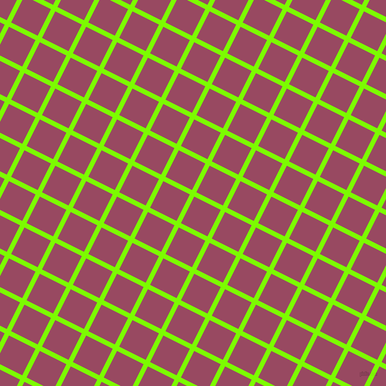 63/153 degree angle diagonal checkered chequered lines, 10 pixel lines width, 61 pixel square size, Lawn Green and Cadillac plaid checkered seamless tileable
