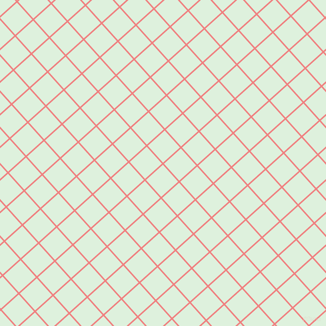42/132 degree angle diagonal checkered chequered lines, 3 pixel lines width, 46 pixel square size, Light Coral and Tara plaid checkered seamless tileable