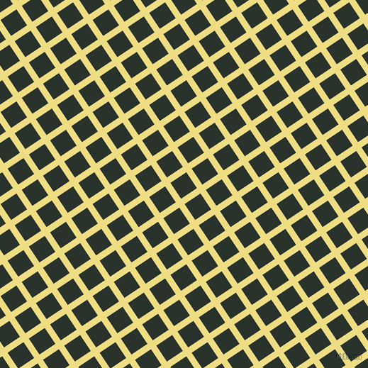 34/124 degree angle diagonal checkered chequered lines, 9 pixel line width, 27 pixel square size, Light Goldenrod and Gordons Green plaid checkered seamless tileable