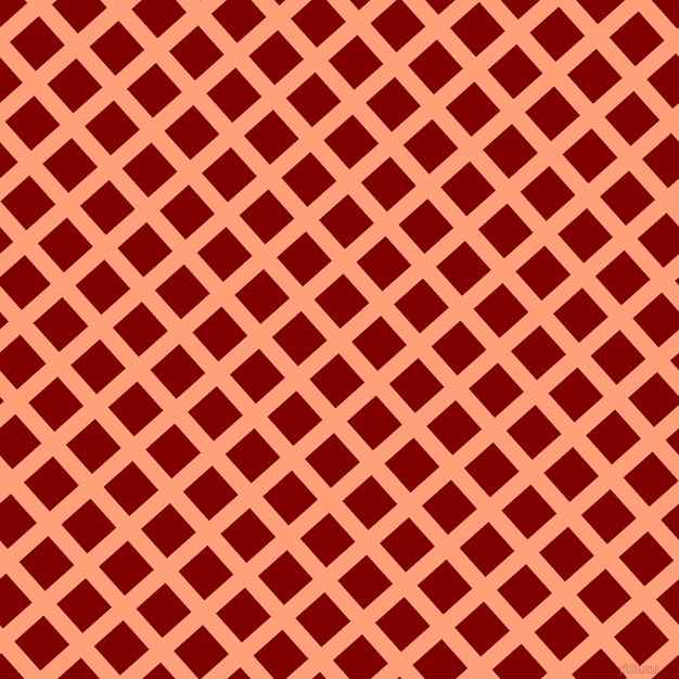 42/132 degree angle diagonal checkered chequered lines, 16 pixel lines width, 36 pixel square sizeLight Salmon and Maroon plaid checkered seamless tileable