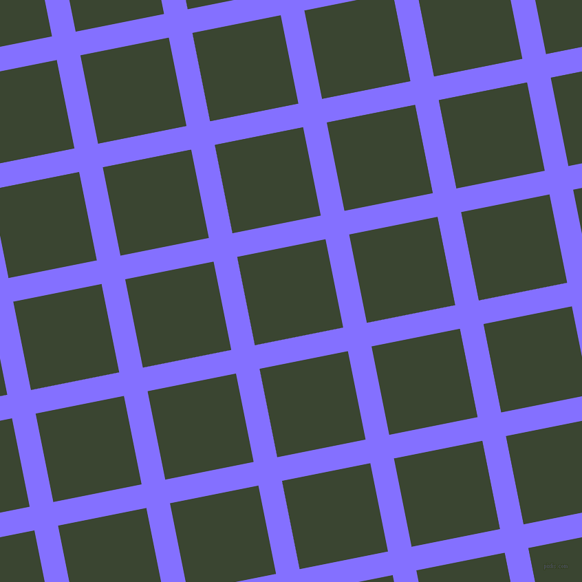 11/101 degree angle diagonal checkered chequered lines, 35 pixel lines width, 131 pixel square size, Light Slate Blue and Mallard plaid checkered seamless tileable
