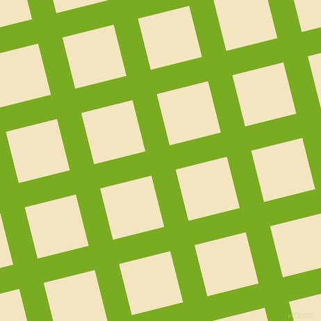 14/104 degree angle diagonal checkered chequered lines, 36 pixel line width, 76 pixel square size, Lima and Half Colonial White plaid checkered seamless tileable